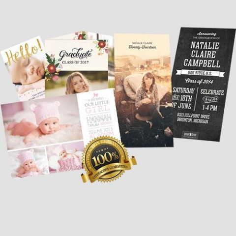 Image of annoucement cards display, Annoucement Cards, Perfect Image Printing