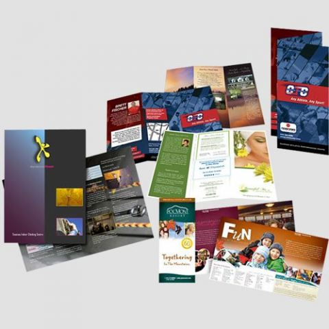 Image of brochures displayed , Brochure , Perfect Image Printing