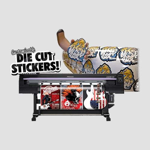 Image of die cut stickers with printer, Die cut stickers , Perfect Image Printing.
