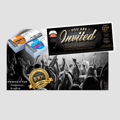 Image of event ticket prints, Event Tickets, Perfect Image Printing