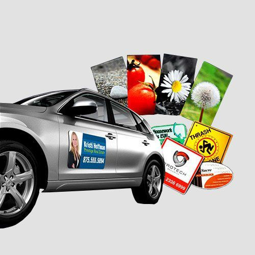 Image of display of magnets and car, Magnets, Perfect Image Printing
