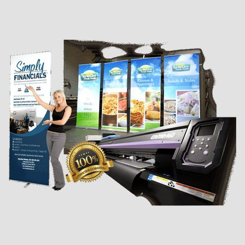 Image of retrachable banners display, Retrachable Banners, Perfect Image Printing