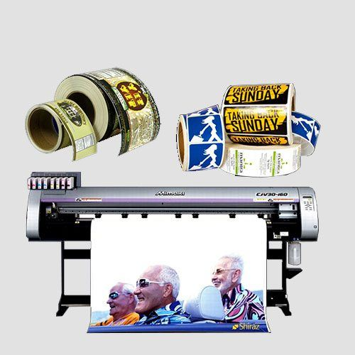 Image of roll labels with printer, Roll Labels, Perfect Image Printing