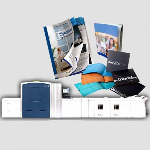 Image of display of booklet prints, Booklet Printing, Perfect Image Printing